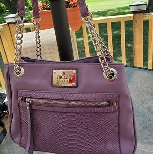 Nicole Miller purple satchel